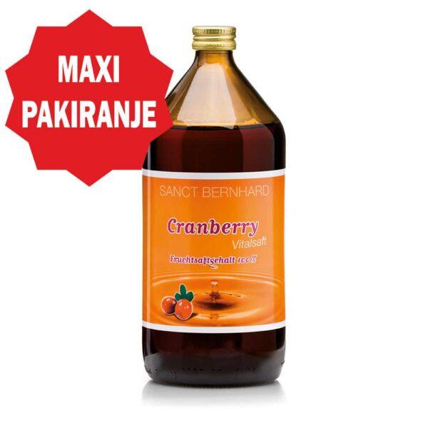 Brusnica sok (1000 ml) - Kräuterhaus Sanct Bernhard