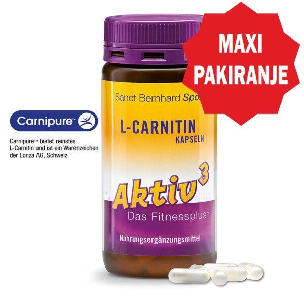 Aktiv3 L-Karnitin kapsule (180 kapsula) - Kräuterhaus Sanct Bernhard