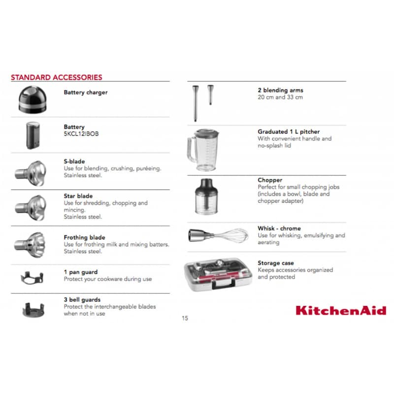 KitchenAid Artisan Bežični štapni mikser sa dodacima