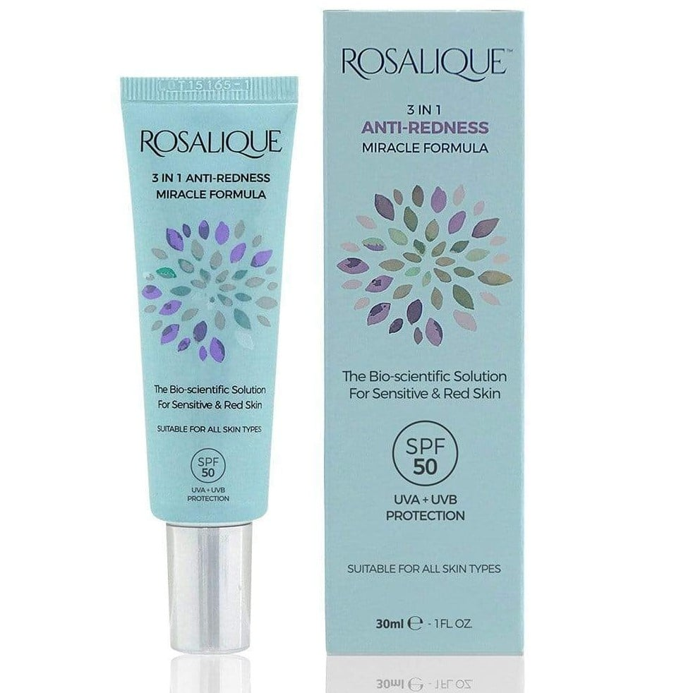 Rosalique - 3 u 1 krema protiv crvenila lica (30 ml)