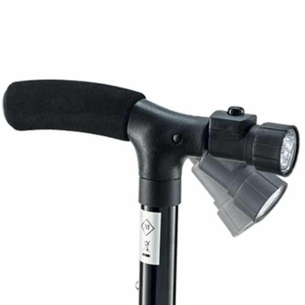 Ortopedski štap na rasklapanje sa sigurnosnim dnom i ručkom
