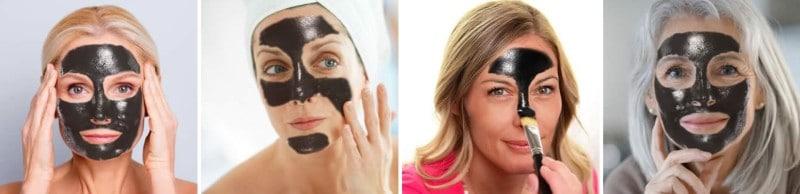 Crna peel-off maska za lice s aktivnim ugljenom - Beauty Purify Essentials