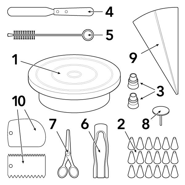Slastičarski pribor za ukrašavanje torti i kolača ProDesserts - 50% POPUSTA